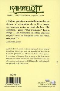 Kaamelott Livre II – Texte intégral – épisodes 1 à 100, 4ème de couverture