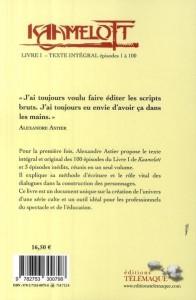 Kaamelott Livre I – Texte intégral – épisodes 1 à 100, 4ème de couverture