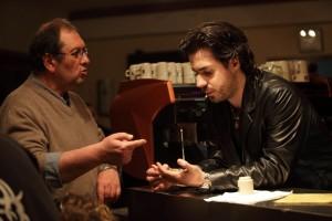 Philippe Carrese et Simon Astier durant le tournage de Cassos