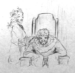 Léodagan et Séli par Thomas Labourot